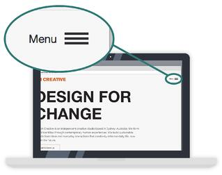 Bad Website Design - Hamburger Menus
